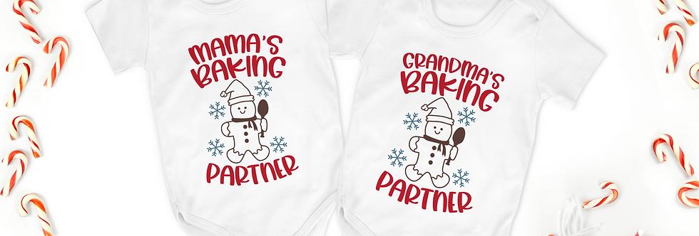 Grandma's/Mama's Baking Partner - Baby Bodysuit