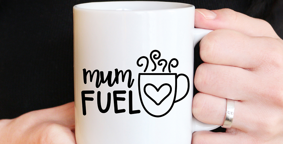 Mum Fuel - 11oz White Ceramic Mug