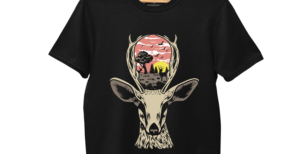 Deer in Nature Graphic T-Shirt