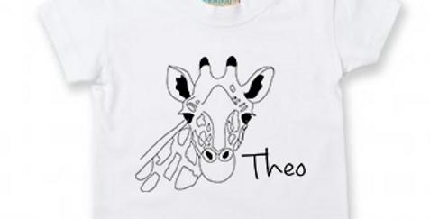 Personalised Giraffe - Baby/Toddler Custom T-Shirt