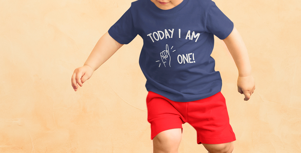 Today I Am One! - Baby/Toddler T-Shirt