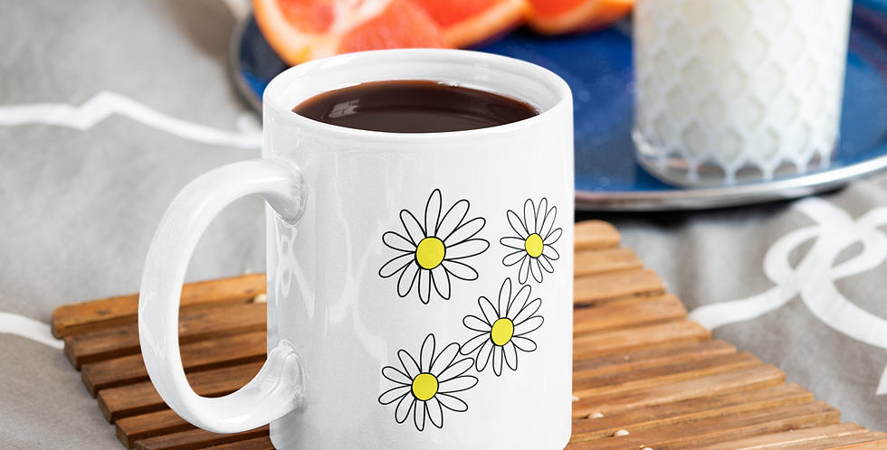 Daisies - 11oz White Ceramic Mug