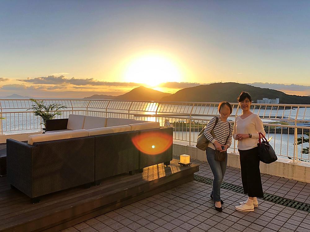 鳥羽国際ホテルで見た秋分の日の日の出。インテリアコーディネーターのブログ。