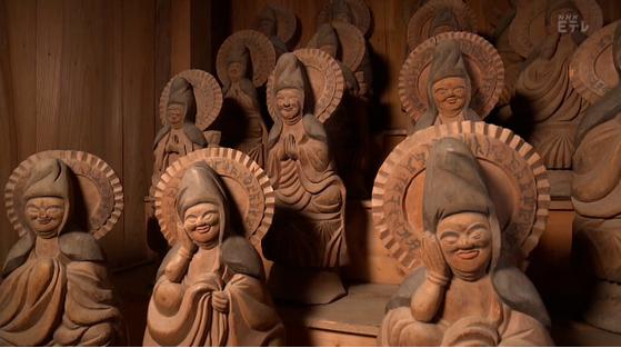 木喰上人の木喰仏。江戸時代に厳しい修行をしながら掘った仏像の美しさ。