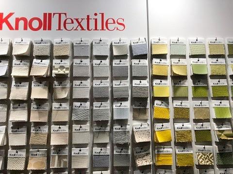ノールテキスタイル。素敵な色柄が揃う。青山のknollショールームにて。インテリアコーディネーターのブログ。
