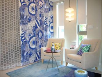 ハウスメーカーでのカーテン研修の中で、紹介した施工実例。セミナー講師のブログ