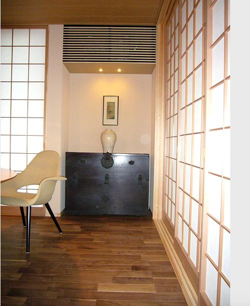李朝家具パンダジのあるダイニング。住宅展示場の実例。インテリアコーディネーターのブログ