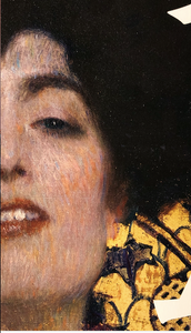 クリムトのユディトⅠ。右目の表情と左目の表情が妖艶さを一層漂わせて入るように思えます。ブログ