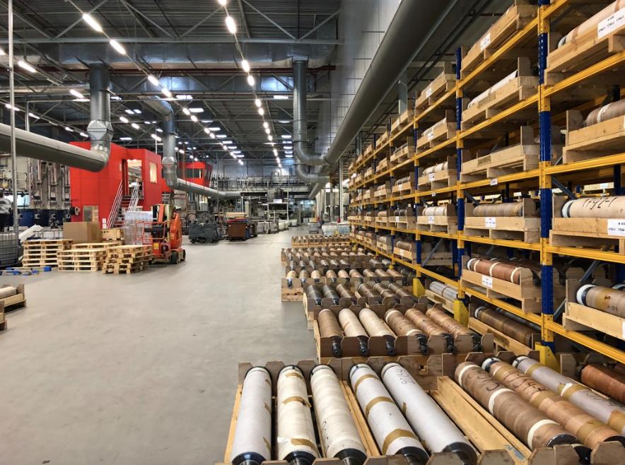 壁紙工場。オランダの工場を視察しました。インテリアコーディネーターのブログ。