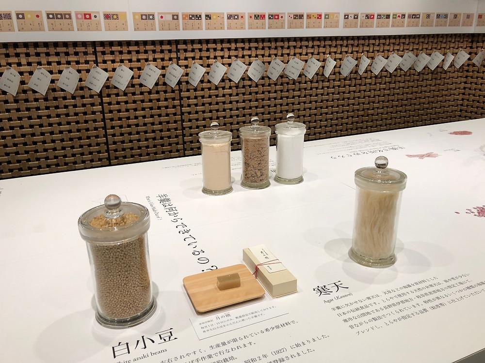 とらや赤坂店のギャラリーでは、羊羹に関する展示が見れました。インテリアコーディネーターのブログ。