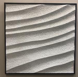 アートフェア東京2019に出品された久住さんの左官の作品。インテリアコーディネーターのブログ。
