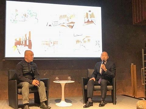 B&B Italiaにて、「空間と彫刻、それぞれの道」と題して、エイトデザインの藤井信介さんと、彫刻家の尾崎悟さんが語りました。インテリアコーディネーターのブログ