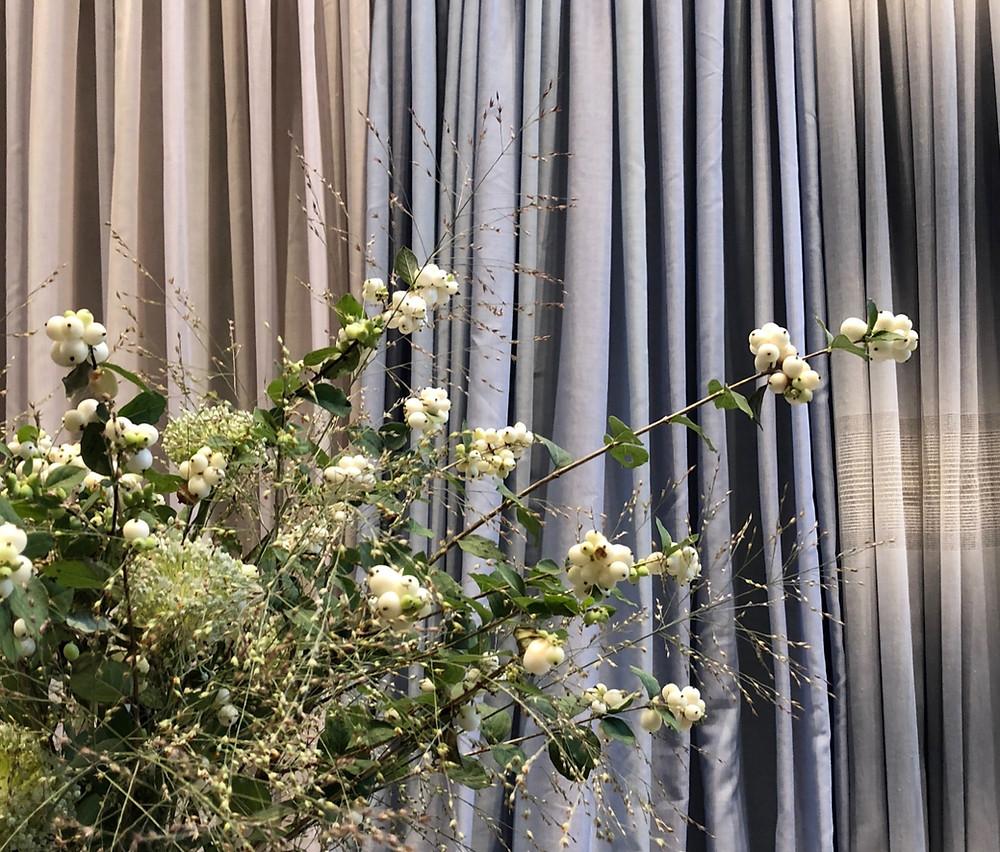 2018年のカーテン、秋の新商品発表会。マナトレーディングの、コンセプトは都会の癒し空間。インテリアコーディネーターのブログ。