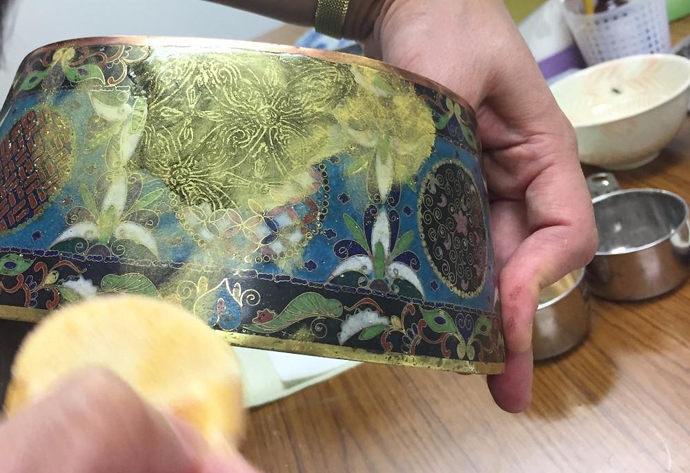 骨董の七宝の器を直すインテリアコーディネーターのブログ