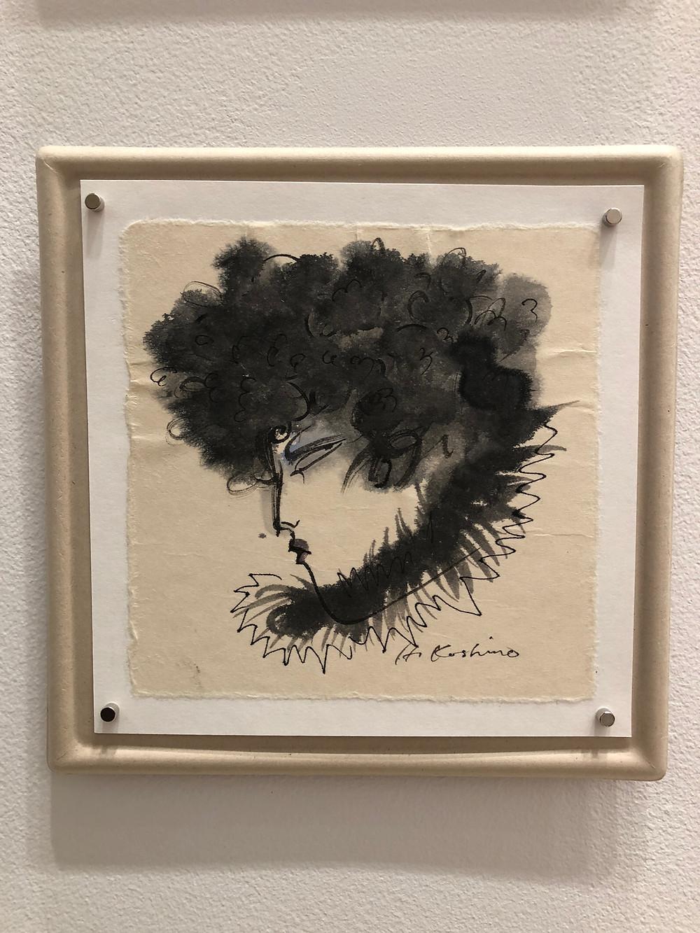 コシノヒロコが描く、女性のまなざし。銀座KHギャラリーにて。インテリアコーディネーターのブログ。