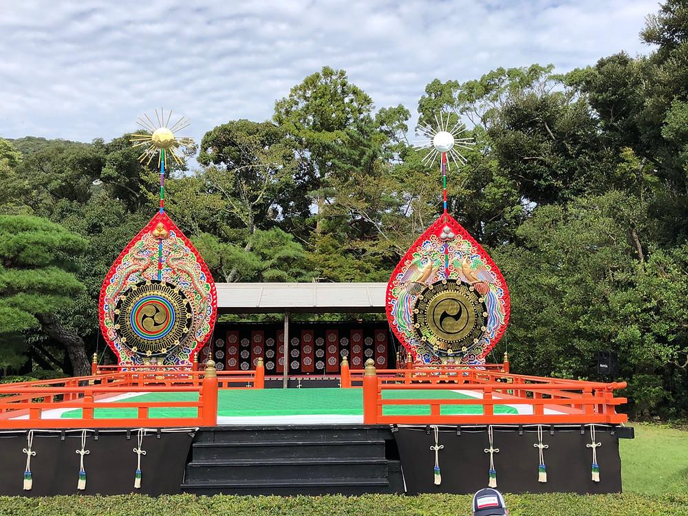 伊勢神宮のお神楽の舞台。秋分の日の旅。インテリアコーディネーターのブログ