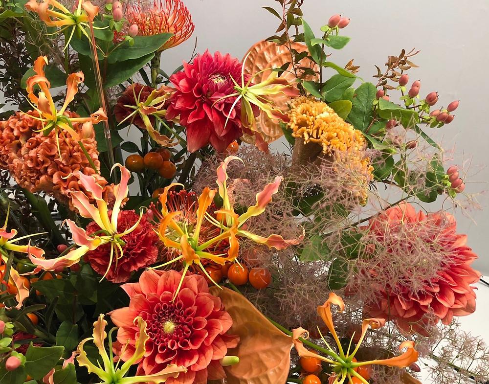 秋のお花のアレンジメント。インテリアコーディネーターのブログ