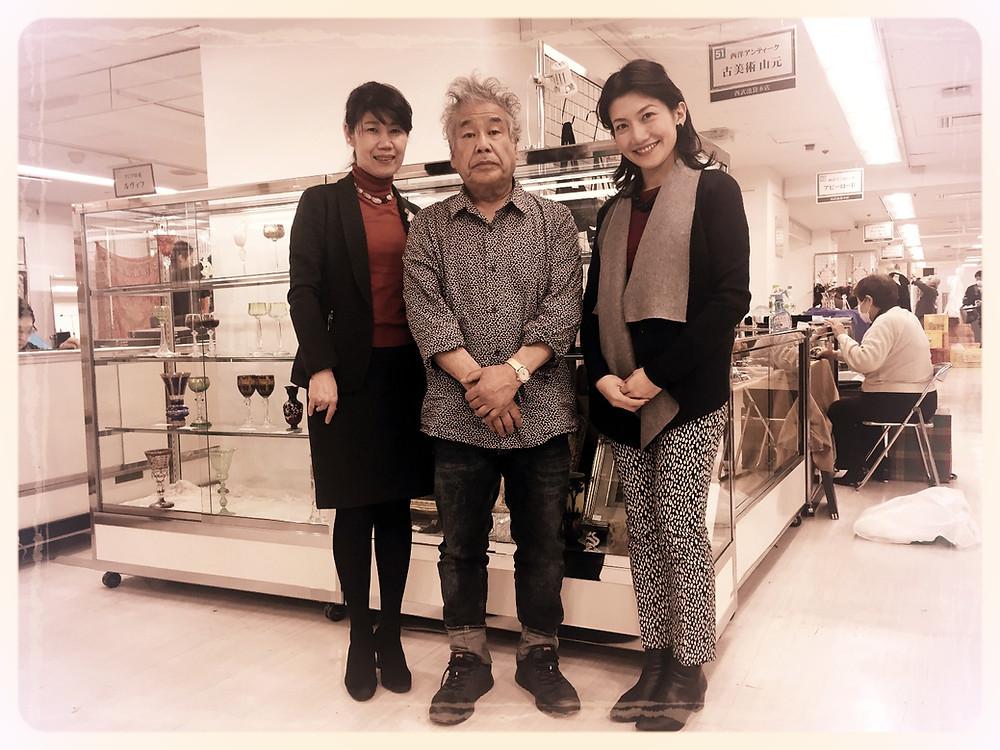 骨董市で岩崎先生と。 テーブルコーディネートのブログ