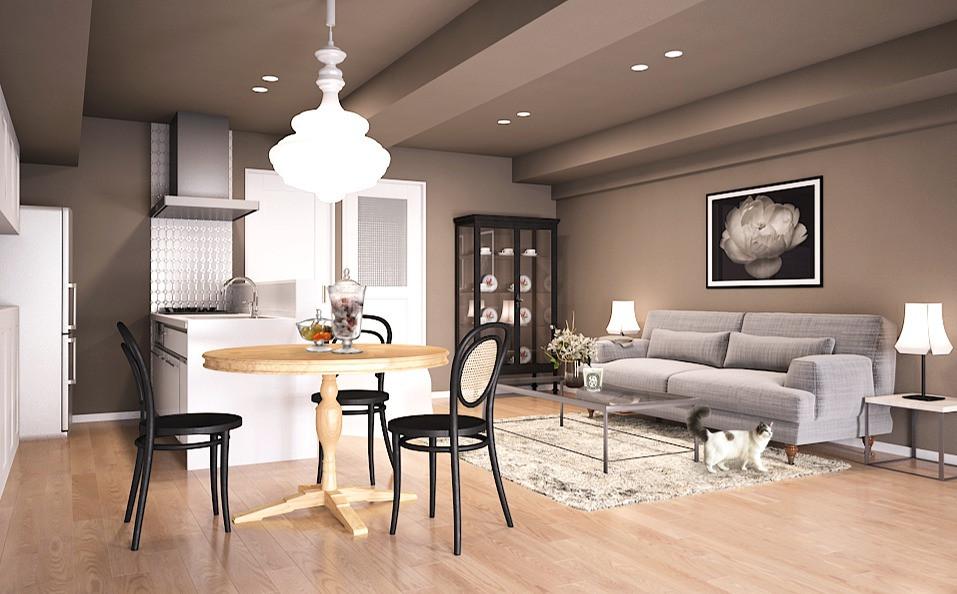 中古マンションのリノベ LDK実例 女性向けマンション販売中 菱和マンション島津山 高輪台