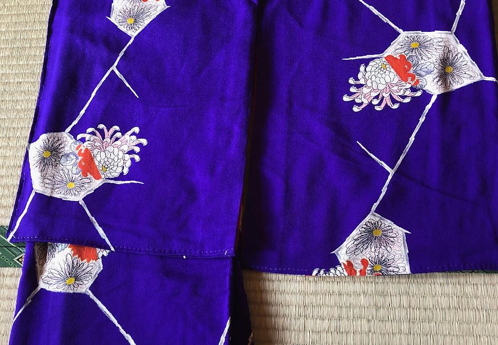 曽祖母の着ていた着物を母がリフォーム。インテリアコーディネーターのブログ。