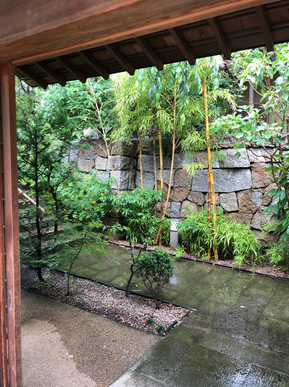 田園調布にあるみぞえ画廊を尋ねました。緑の庭を進みます。ブログ