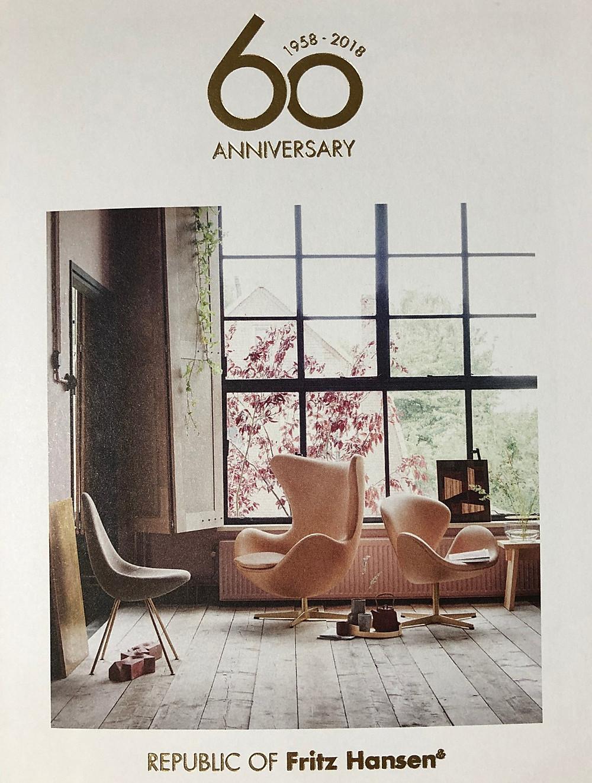北欧家具、フリッツハンセンの60周年記念モデルのエッグチェアーについて。インテリアコーディネータのブログ。