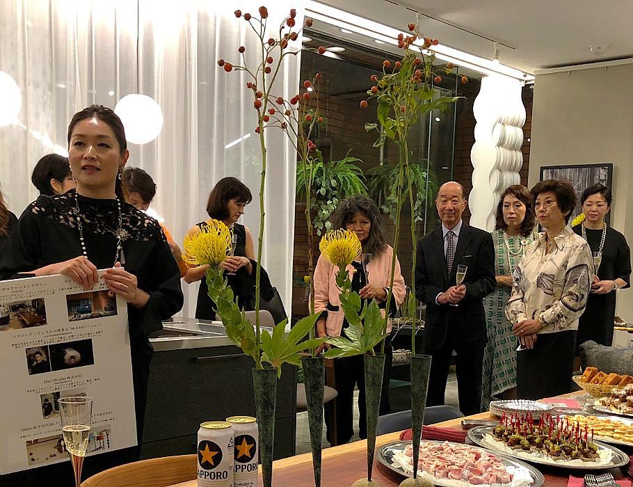 エールドール、和氣生枝さんの15周年記念パーティー。ゼロファーストにて。インテリアコーディネータのブログ。