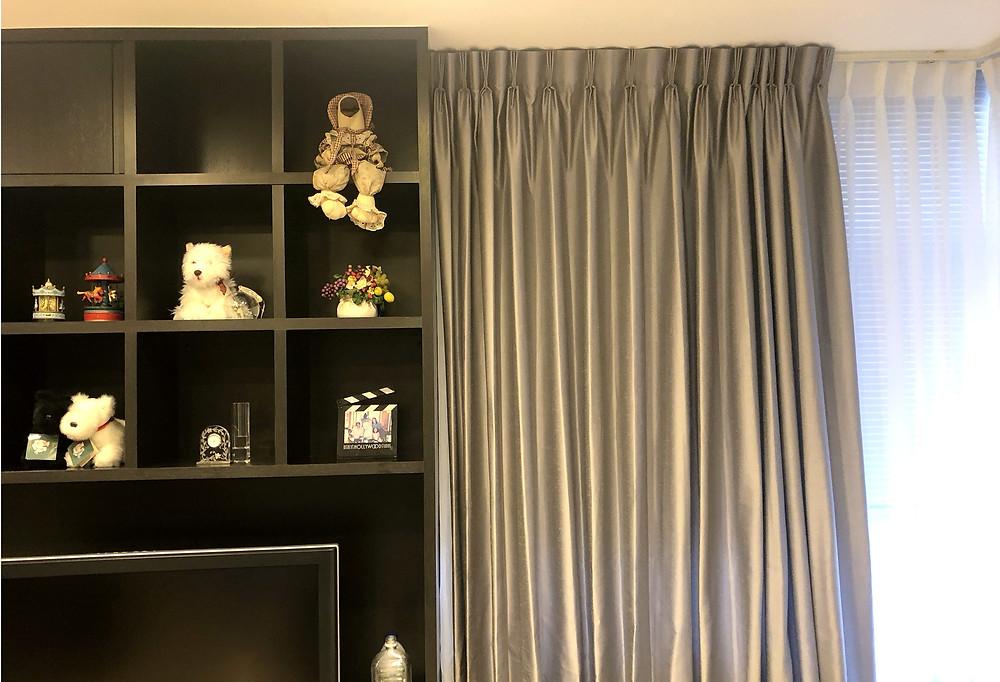 オーダーカーテン承ります。壁紙や家具との調和を考えて、コーディネートします。