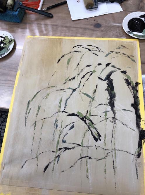 しだれ桜を描いてみました。インテリアコーディネーターのブログ。