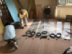 マンションリフォーム 床暖施工 実例 現場
