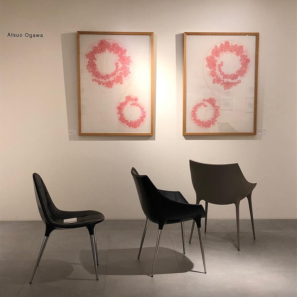 カッシーナのショールームにはアートも沢山。インテリアコーディネーターのブログ。