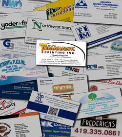 Business Card Layout for Website Portfolio