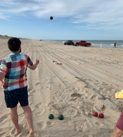 A game of bocce at the beach