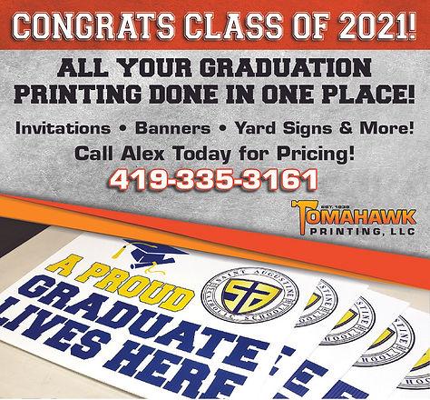 Tomahawk - Graduation Printing Graphic c
