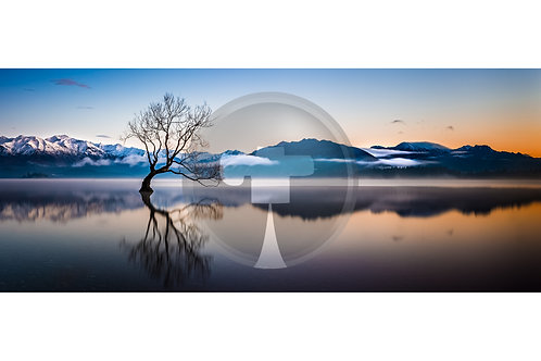 Winter sunrise, Lake Wanaka
