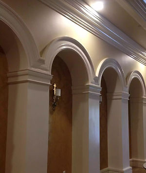 Molded Columns Indoors