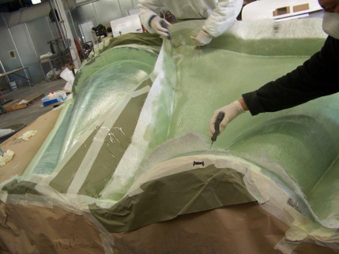 FRP mold process hand layup up ceilings gfrp panels