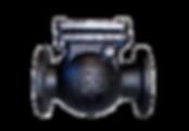 Клапан обратный чугунный 19ч16бр пнг.png