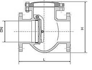 Клапан обратный чугунный 19ч16бр схема.p