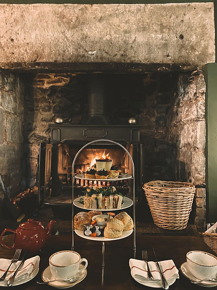 Afternoon Tea, Cross Lane House, Exmoor,