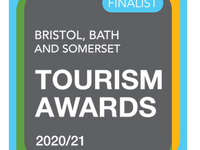 Named as Finalists in the Bristol, Bath & Somerset Tourism Awards 2020/21