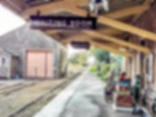 dunster station exmoor railway cross lan