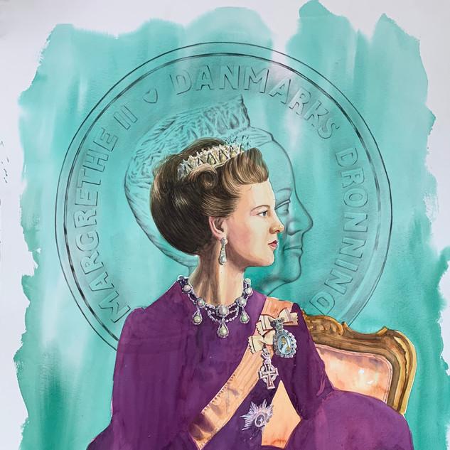 H.M Queen Margrethe II of Denmark (AQU/RPP) SOLD