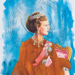 H.M Queen Margrethe II of Denmark '24k' (TQR / BW)