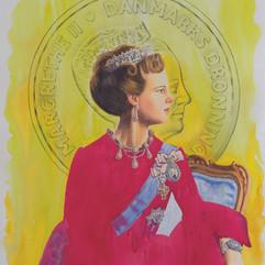 H.M Queen Margrethe II of Denmark '24k' (YLW / RR)