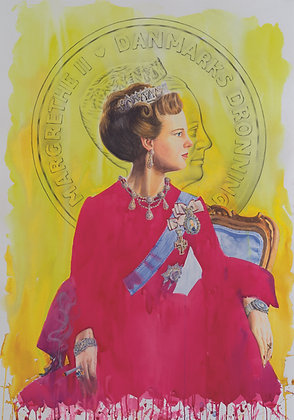 H.M Queen Margrethe II of Denmark (YLW / RR)