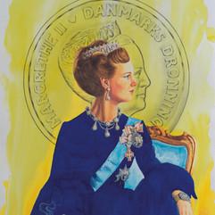 H.M Queen Margrethe II of Denmark '24k' (YLW / RB)