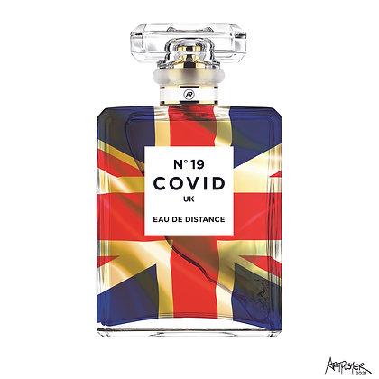COVID No. 19 EAU DE DISTANCE (White Brexit)