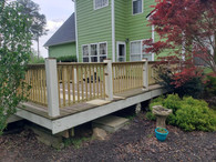 Replaced deck railing