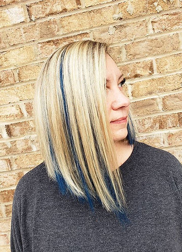 We finally got Michelle's blue jean peekaboos of her dreams!__I tried out _donnabellahair